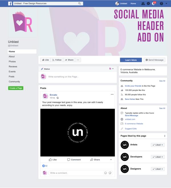Social Media Banner Add On